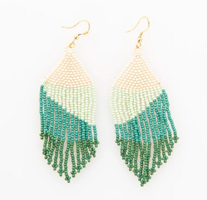 Ink + Alloy - Teal Ombre Fringe Earring