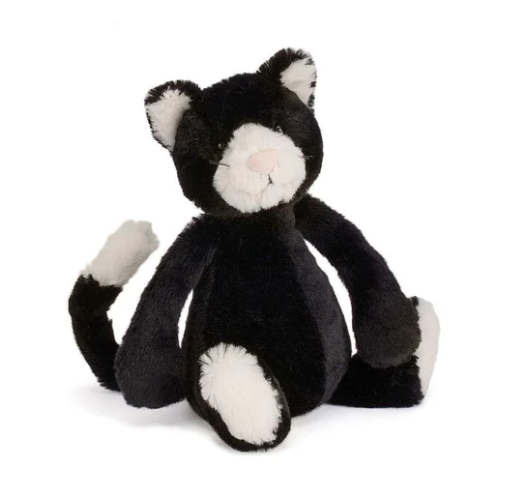 Load image into Gallery viewer, JellyCat - Small Bashful Black/White Kitty