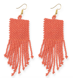 Ink + Alloy - Lapis Seed Bead Earring - Coral