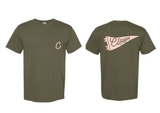 Heart for Clovis Pocket Tee in Olive