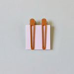 Nat + Noor - Triangle Hair Clip Set in Mustard