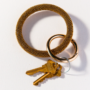 Ink + Alloy - Seed Bead Key Ring in Gold