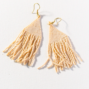 Ink + Alloy - Luxe Petite Fringe Earring - Ivory