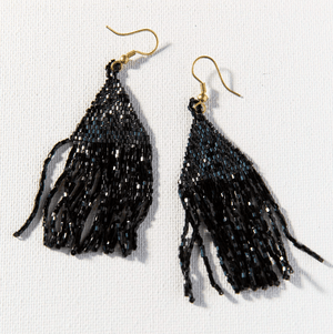 Ink + Alloy - Luxe Fringe Earring - Black
