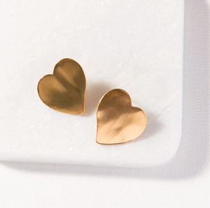 Ink + Alloy - Small Heart Earrings - Gold