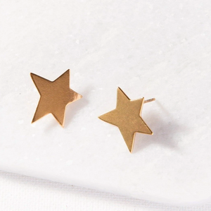 Load image into Gallery viewer, Ink + Alloy - Star Earrings - Gold