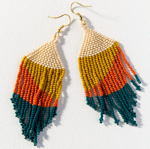 Load image into Gallery viewer, Ink + Alloy - Fringe Earrings - Peacock