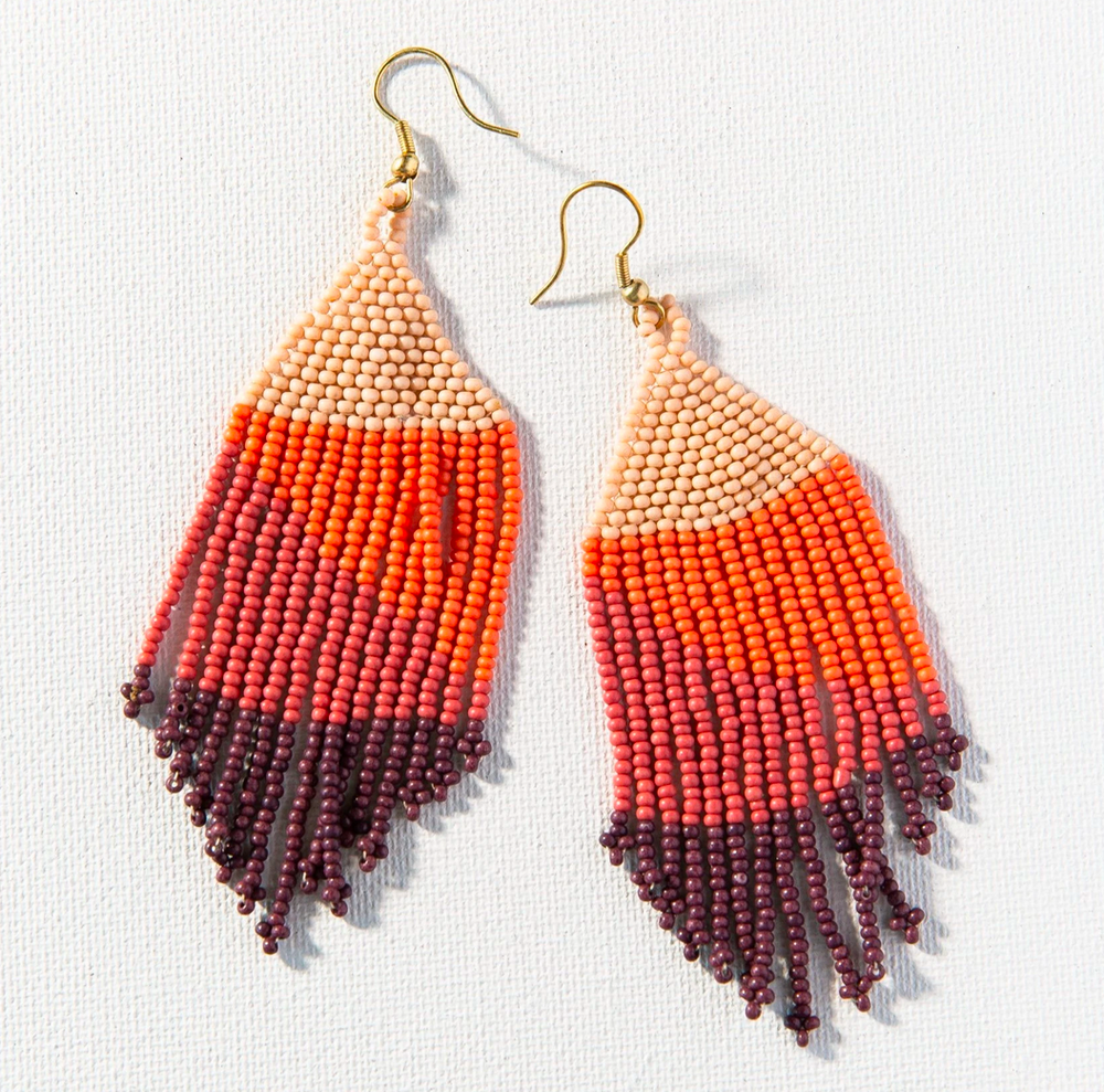 Load image into Gallery viewer, Ink + Alloy - Fringe Earrings - Pink
