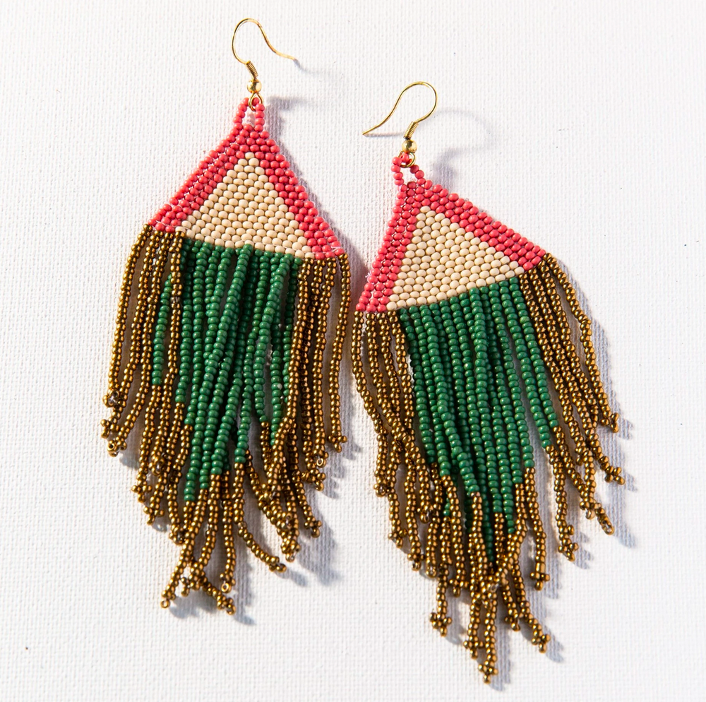 Load image into Gallery viewer, Ink + Alloy - Fringe Earring - Terra Cotta