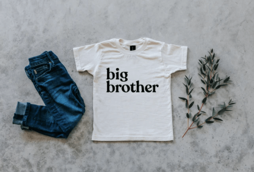 Big Brother Tee - Ivory & Black