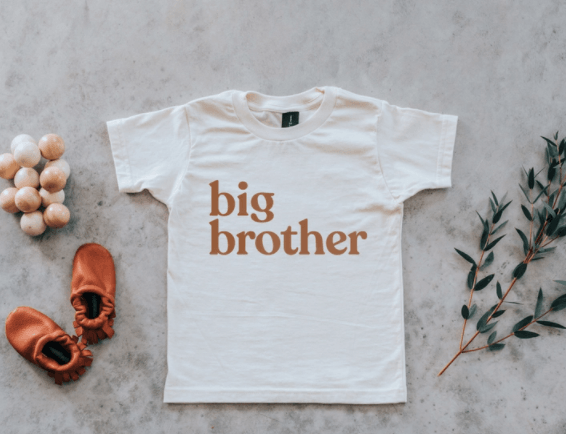 Load image into Gallery viewer, Big Brother Tee - Ivory & Camel