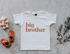 Big Brother Tee - Ivory & Camel