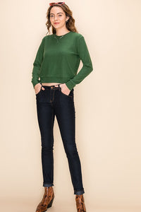 Stella V Stitch Sweater - Dark Green