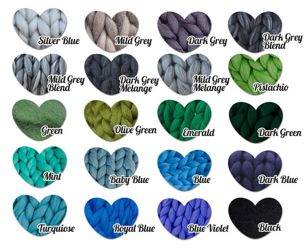 Chunky Bulky Merino Yarn for Arm Knitting, Crochet, Weaving and Roving