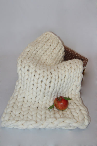- Chunky blanket 40*80'' 100% Merino Wool - Nata Home and Fashion - 3