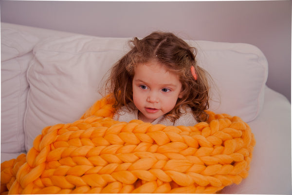 - Chunky Merino Blanket 30*55'' 100% Merino Wool - Nata Home and Fashion - 2