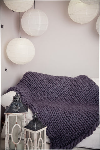 - Chunky Wool Blanket 40*60'' 100% Merino Wool - Nata Home and Fashion - 1