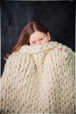 - Chunky blanket 40*80'' 100% Merino Wool - Nata Home and Fashion - 2