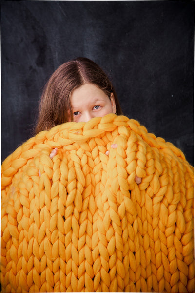 - Chunky Merino Blanket 30*55'' 100% Merino Wool - Nata Home and Fashion - 1