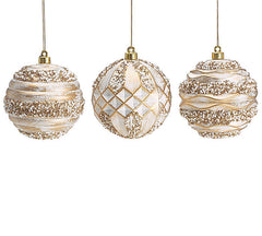Shatterproof Ornate Round Ornament Set