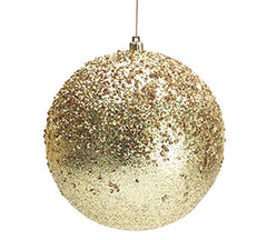 Ornate Oversized Gold Christmas Ornaments- Set of 8