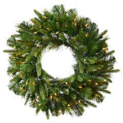 "Vickerman 24"" Cashmere Artificial Christmas Wreath with 50 Clear Lights"