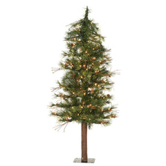 Vickerman 3' Mixed Country Alpine Artificial Christmas Tree with 70 Clear Lights