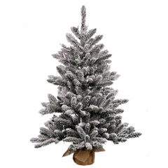 "Vickerman 30"" Flocked Anoka Pine Artificial Christmas Tree Unlit"