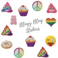 Blingy Bling Rhinestone Sticker Party Pack for 8