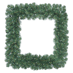 "Vickerman 30"" Oregon Fir Artificial Christmas Square Wreath with 70 Clear Lights"