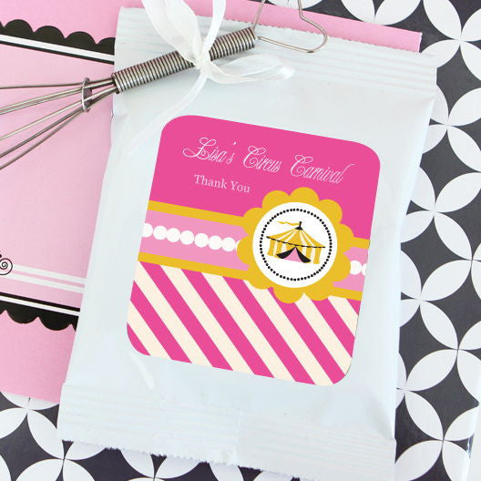 Pink Circus Party Personalized Lemonade + Optional Heart Whisk