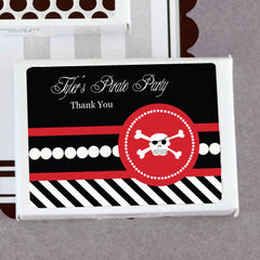 Pirate Party Personalized Gum Boxes