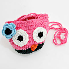 Crocheted Owl Cross Body