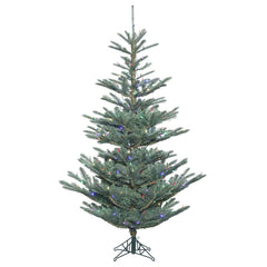 Vickerman 7.5' Alberta Blue Spruce Artificial Christmas Tree with 400 Multi-Colored LED Lights