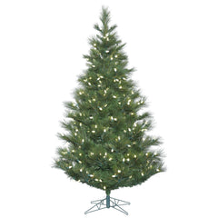 Vickerman 6.5' Norway Pine Artificial Christmas Tree with 250 Warm White LED Lights