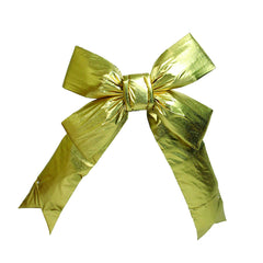 "Vickerman 36"" Gold Four Loop Nylon Indoor Christmas Bow"