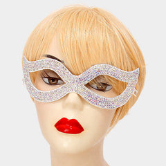 Rhinestone Cat Eye Mask