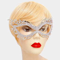 Rhinestone Filigree Cat Eye Mask