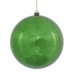 "Vickerman 8"" Green Mercury Ball Ornament."