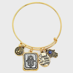 Good Karma Bangle- Antique Gold Finish