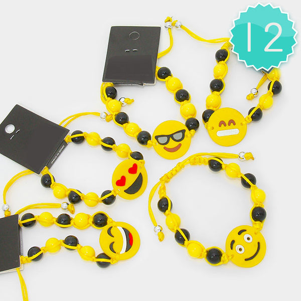 Emoji Bead Bracelet- Package of 12