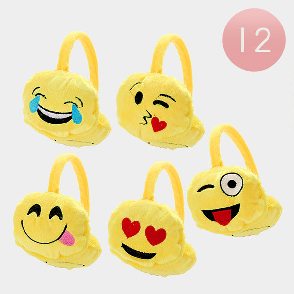 Emoji Earmuffs Party Favor Pack - Assortment of 12