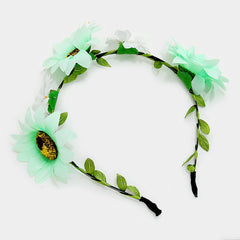 Flower Fairy Headbands- 1 Dozen Assorted