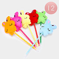 Plush Bunny Ball Point Pen- Package of 12