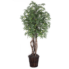 Vickerman 6' Artificial Japanese Maple Executive in Rattan Basket