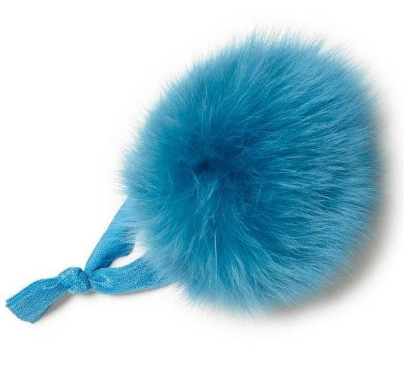 Faux Fur Pom Pom Hair Ties- 5 Colors Available
