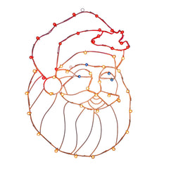 "Vickerman 48"" C7 LED Santa Head Wire Silhouette"