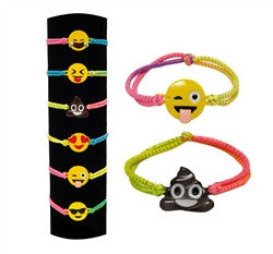 Emojicon Stretch Bracelets- Party Pack of 8