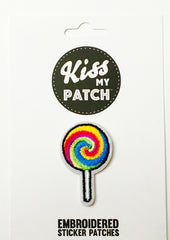 Lollipop Embroidered Adhesive Patch