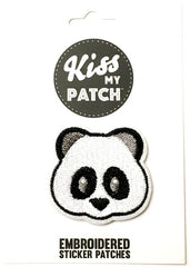 Panda Emoji Embroidered Adhesive Patch